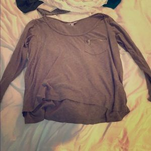 Slouchy tee with supper pocket banana republic